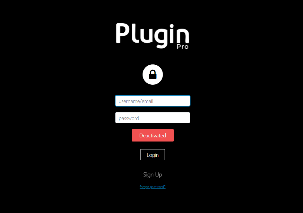 plugin pro login screen